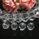 Beads, Imitation Crystal beads, Acrylic, Colourless, Faceted spherical, Diameter 10mm, 17g, 40 Beads, (SLZ0511)